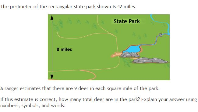 PARCC math item deer.JPG
